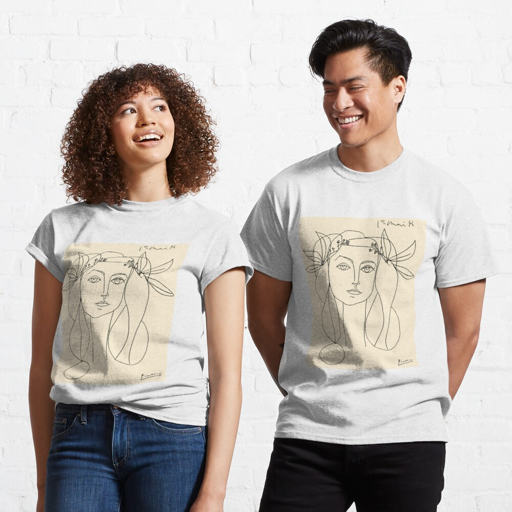 HEAD 1946 : Vintage Abstract Print Classic T-Shirt