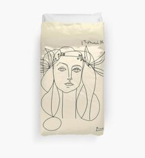 HEAD 1946 : Vintage Abstract Print Duvet Cover