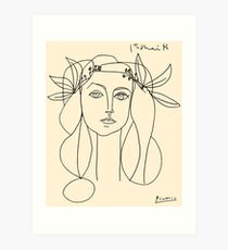 HEAD 1946 : Vintage Abstract Print Art Print