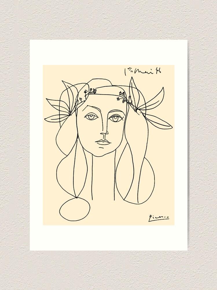 Alternate view of HEAD 1946 : Vintage Abstract Print Art Print