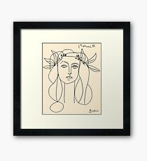 HEAD 1946 : Vintage Abstract Print Framed Print