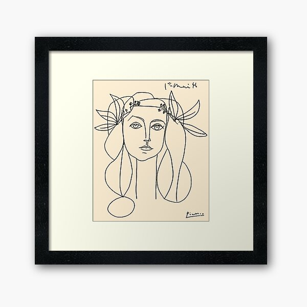 HEAD 1946 : Vintage Abstract Print Framed Art Print