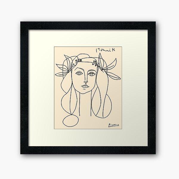HEAD 1946: Vintage Abstract Print Impression encadrée