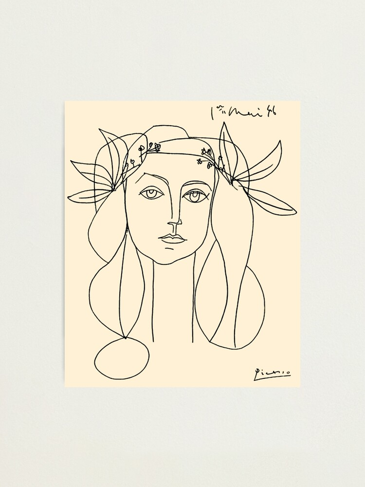Alternate view of HEAD 1946 : Vintage Abstract Print Photographic Print