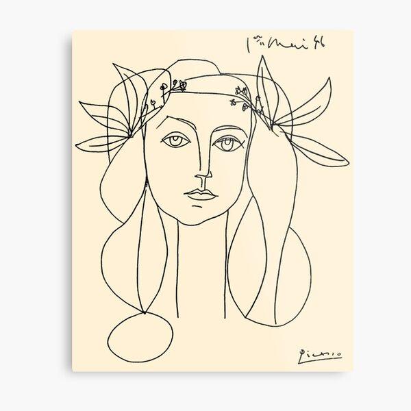 HEAD 1946 : Vintage Abstract Print Metal Print