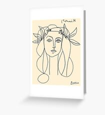 HEAD 1946 : Vintage Abstract Print Greeting Card