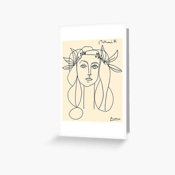 HEAD 1946 : Vintage Abstract Print Greeting Card