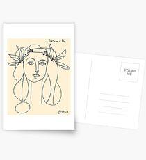 HEAD 1946: Vintage Abstract Print Postkarten