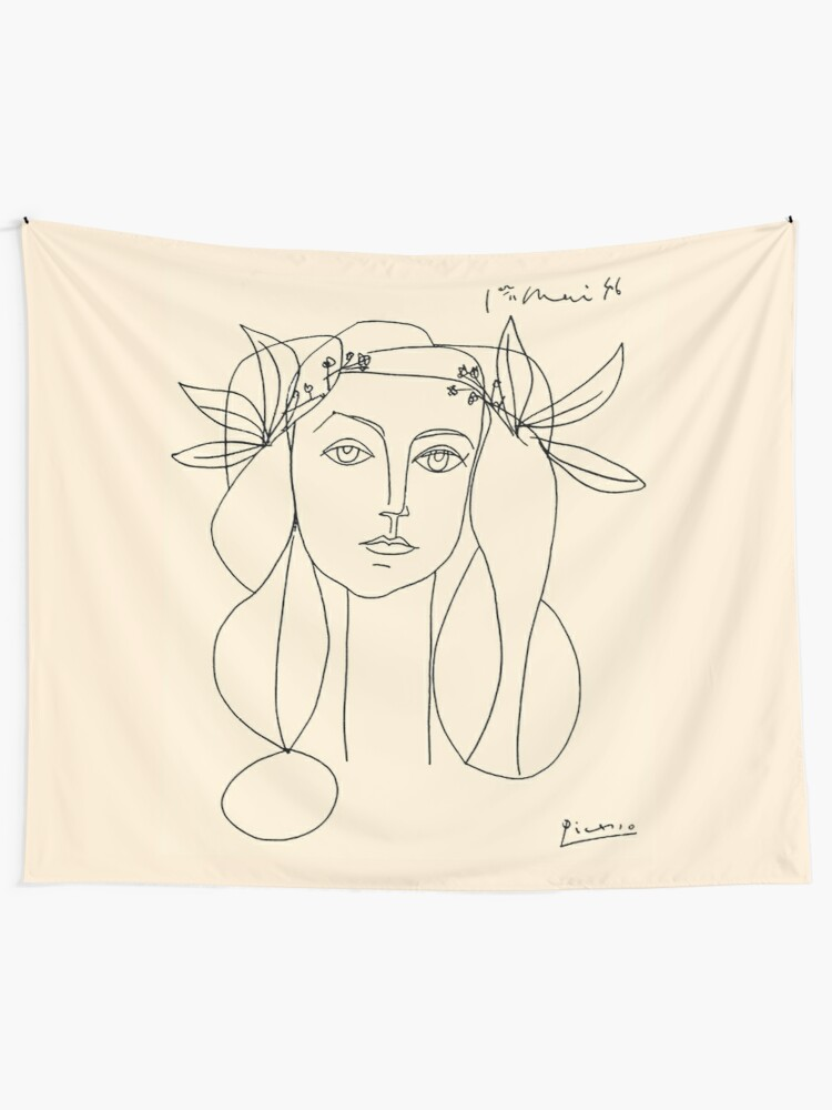 Alternate view of HEAD 1946 : Vintage Abstract Print Tapestry