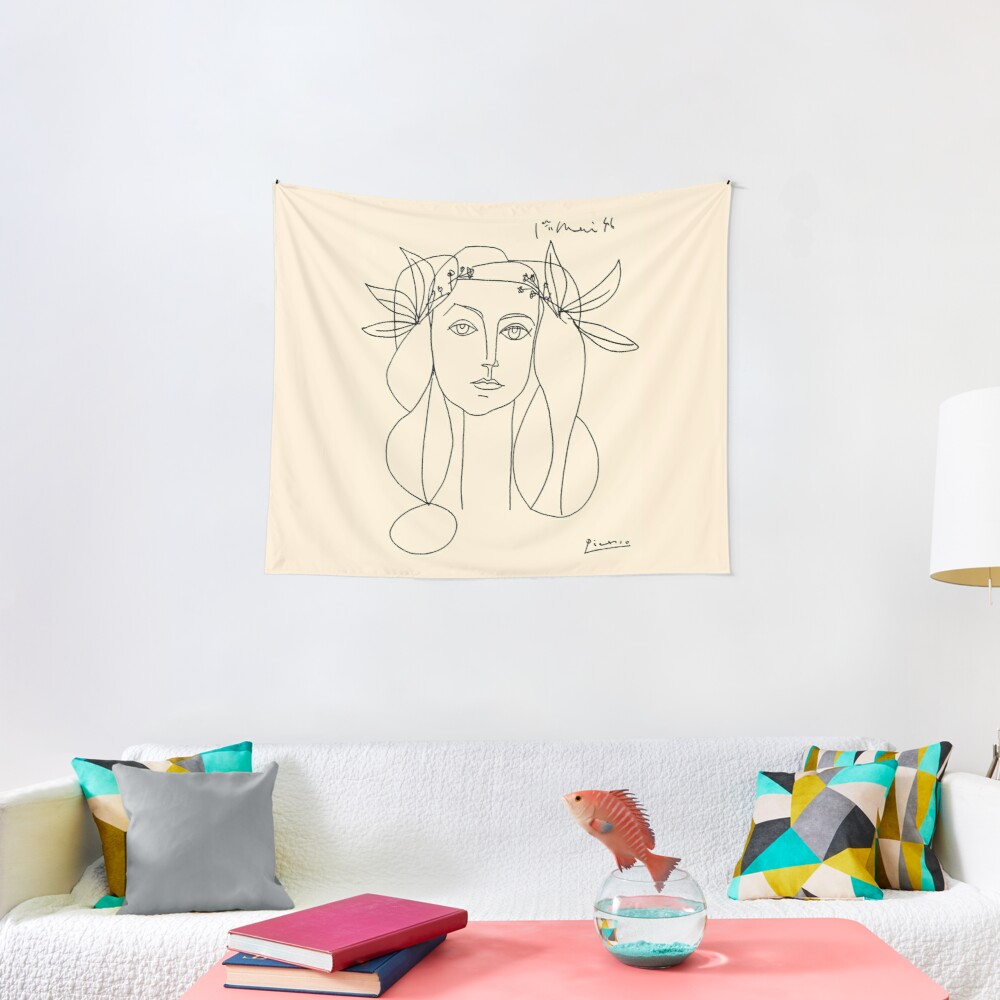 HEAD 1946 : Vintage Abstract Print Tapestry
