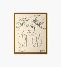 HEAD 1946 : Vintage Abstract Print Art Board Print