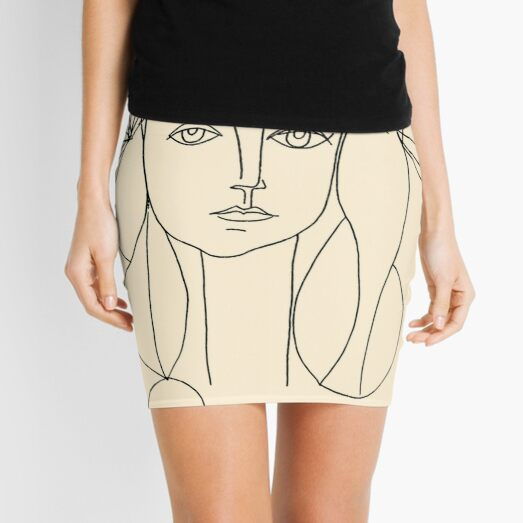 HEAD 1946 : Vintage Abstract Print Mini Skirt