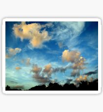 Cloudy Blue Skies Forever - Gorgeous Nature Print Sticker