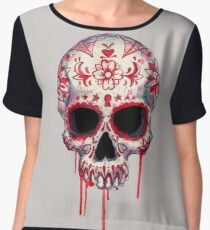 Blood Sugar Skull Women's Chiffon Top