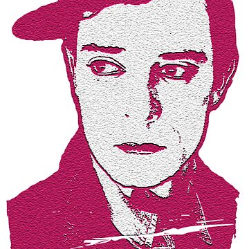 Buster Keaton in Pink by nicoletteabides
