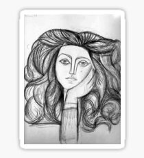 FRANCOISE 1946 : Vintage Abstract Painting Print Sticker