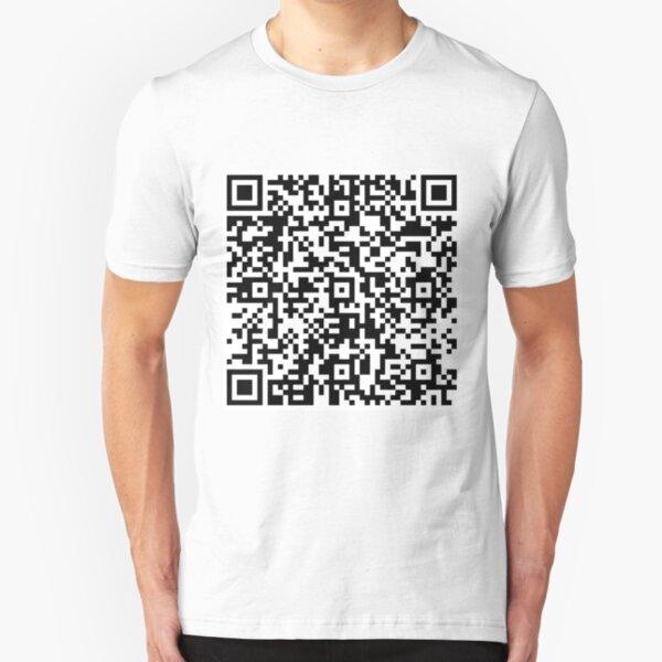 Bee Movie Script QR Code Slim Fit T-Shirt
