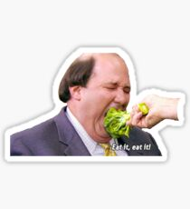 Kevin eating broccoli Sticker
