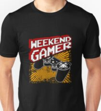 Weekend Gamer Gift Idea For Gamers Video Game Lovers Players Gaming T-Shirt