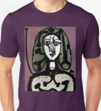 WOMAN WITH GREEN HAIR : Vintage Fantasy Painting Print T-Shirt