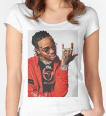 Quavo Migos Culture Women's Fitted Scoop T-Shirt