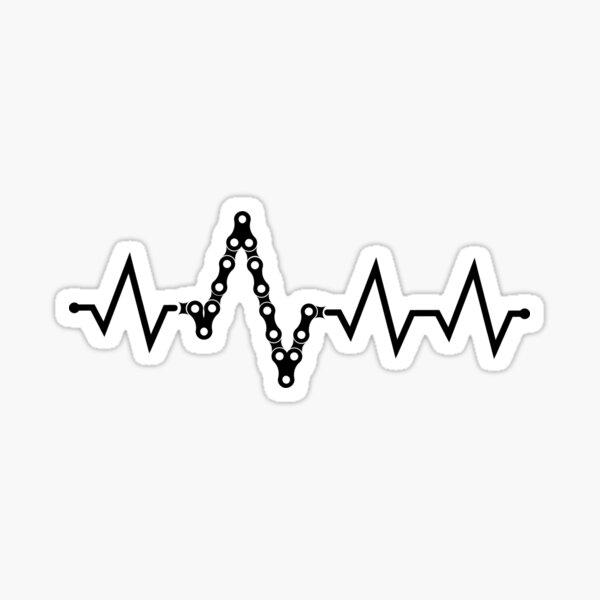Bike Heartbeat Pulse Sticker