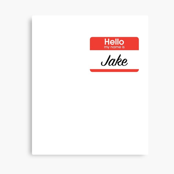 It is a photo of Jake From State Farm Name Tag Printable regarding couple