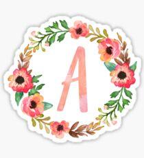 Pegatina Rosa Floral A