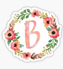 Pink Floral B Sticker