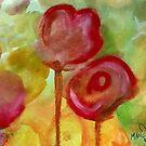 Project 321 - Red Watercolor Flowers by cehouston