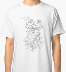 Bumble bees and Flowers Classic T-Shirt