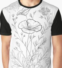Bumble bees and Flowers Graphic T-Shirt