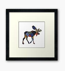 Tartan Moose  Framed Print