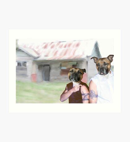 The Dog Series - Suburban Dogs Art Print