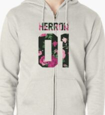 Zach Herron - Colorful Flowers Zipped Hoodie