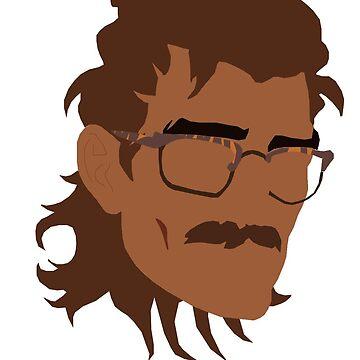 Hugo Vega Minimalist Portrait by laurenpaulin