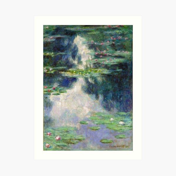 Pond with Water Lilies Monet Fine Art Art Print