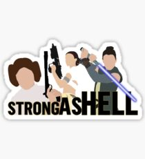 Strong as Hell (Galactic Gals Version) Sticker