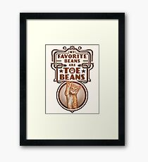 My Favorite Beans Are Toe Beans (Cat) Framed Print