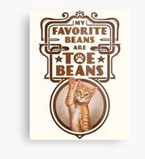 My Favorite Beans Are Toe Beans (Cat) Metal Print