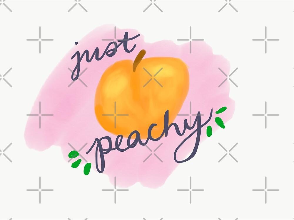 Just Peachy Hand-Drawn Art by ktsells