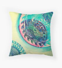 surf mandala Throw Pillow
