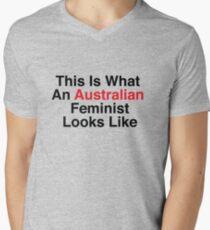 This Is What An Australian Feminist Looks Like Men's V-Neck T-Shirt