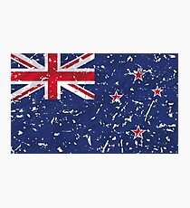 New Zealand Grunge Vintage Flag Photographic Print