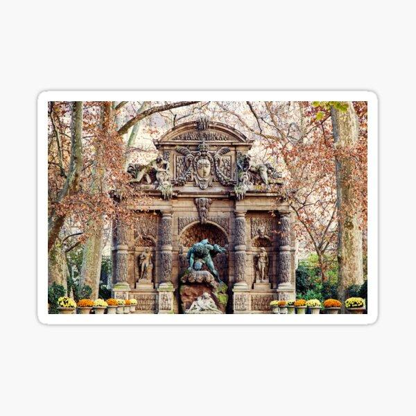 Medici Fountain in Autumn - Paris, France Sticker