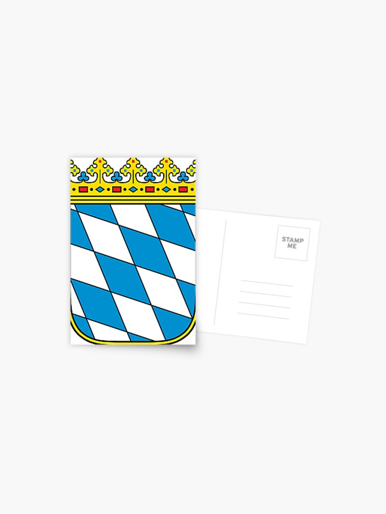 Coat Of Arms Of Bavaria Minor Coat Of Arms Postcard By Tonbbo Redbubble