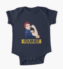Rosie Riveter Feminist One Piece - Short Sleeve