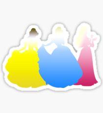Gradient Princesses Sticker