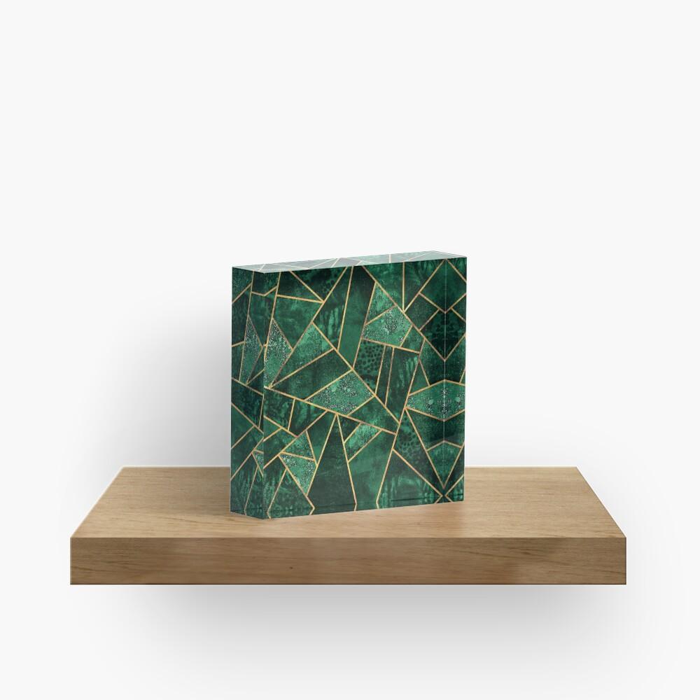 Deep Emerald Acrylic Block