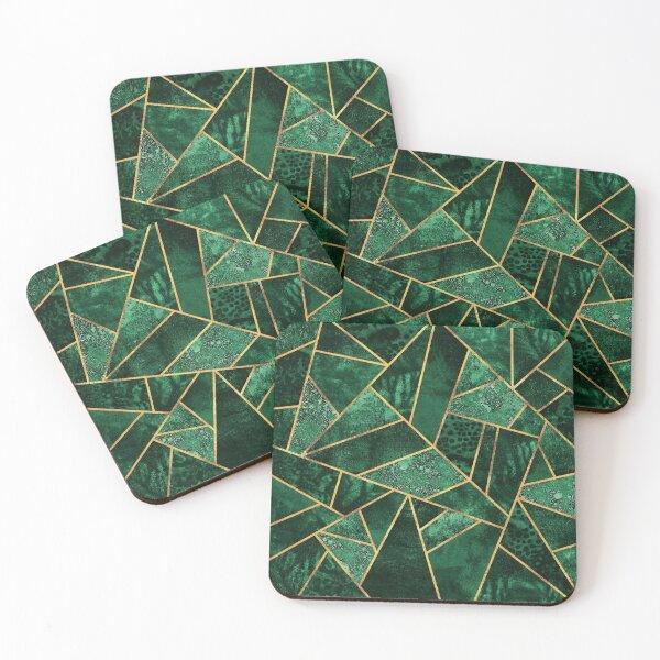 Deep Emerald Coasters (Set of 4)